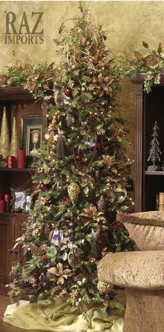RAZ Christmas Tree!!! Bebe'!!! Love this Woodsy Christmas  Tree!!!: