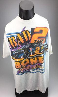 44fdecd4 Vintage Rusty Wallace Bad 2 the Bone Nascar tshirt mens XXL by AllSport USA  #Allsport