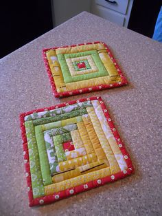 quilted potholder  by HoosierToni, via Flickr