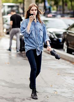 63 Denim Street Style Looks to Inspire You Now via @WhoWhatWear @gtl_clothing #getthelook http://gtl.clothing