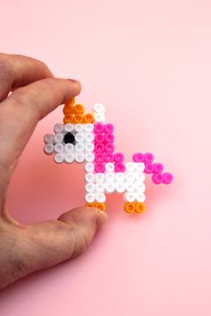 DIY PERLER BEAD RAINBOW AND UNICORN BROOCHES.