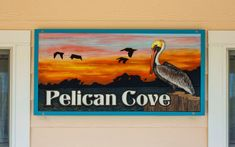 #459 Pelican Cove l House Signs l Vacation Rental Sign l Outer Banks l Duck Landing l Duck, NC Beach House Names, Beach House Signs, Home Signs, Outdoor Dining Chair Cushions, Deck Chairs, Arm Chairs, Cottage Names, Gas And Charcoal Grill, Kitchen Views