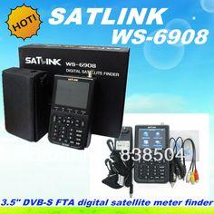 Satlink ws6908 DVB-S FTA Цифровой спутниковый finder метр ws 6908 Satlink Спутниковый Измеритель с Автоматического Сканирования/СБЕР/ВБЭР/PWR свободный корабль