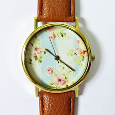 Jewels: floral, freeforme, watch, fashion, style - Wheretoget