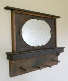 Entryway Coat Rack Mirror Made With Piano Parts