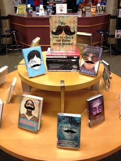 Library Displays: We moustache you to check out these great books!