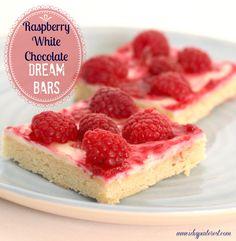 Raspberry White Chocolate Dream Bars on MyRecipeMagic.com