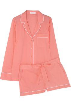 Equipment|Lilian washed-cotton pajama set|NET-A-PORTER.COM.