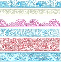 Free download Classical wave pattern Vector. waves, patterns, colors, backgrounds, sea, flowing lines, clouds, happiness, harmony, classic, classical, wind, vec