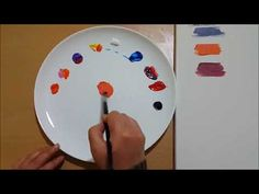 Mercan Rengi Nasıl Yapılır? - YouTube Color Mixing, Tableware, Youtube, Dinnerware, Tablewares, Dishes, Place Settings, Youtubers, Youtube Movies