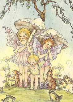 Vintage 1951 illustration from Dreamland Frolics by Doreen Baxter Arte Lowbrow, Fairy Paintings, Kobold, Fairy Pictures, Vintage Fairies, Baby Fairy, Beautiful Fairies, Fairytale Art, Flower Fairies