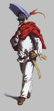 Zanni: a peasant and trickster whose costuming typically consists of white baggy clothing.
