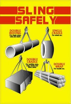 Synthetic Sling Choke Hitches Lifting Safety, Safety Training, Health And Safety Poster, Safety Posters, Civil Engineering Construction, Construction Safety, Safety First, Safety Work, Workplace Safety Tips