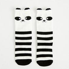 Kids Panda Knee High Socks