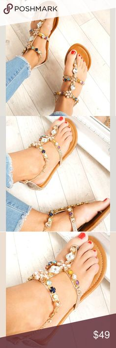 IKRUSH Crystal Embellished Sandals Brand New With Box. Sizes 5 and 6 available. IKRUSH Shoes Sandals