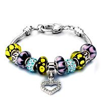 Pugster Petal Mixed Style Dangle Heart Pandora Beaded Bracelet$49.99