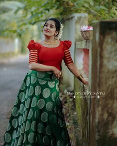 Full Skirt And Top, Half Saree, Lehenga, Gowns, Skirts, Vintage, Dresses, Style, Fashion