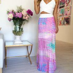 "@saboskirt's photo: ""Print love in the Coachella Maxi Skirt.. #SaboSkirt.com"""