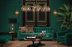 Living room color schemes ideas will assist you to add harmonious tones to your home which offer variety and sensations of tranquility, locate them. Art Deco Living Room, Dark Living Rooms, Elegant Living Room, Living Room Green, Living Room Paint, Living Room Furniture, Living Room Designs, Living Area, Art Deco Room