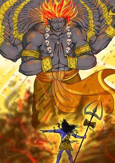Lord Shiva summons Virabhadra by nairarun15