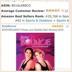 Staying in Amazon's top 100! BodyBounce.tv #fitnessforthemasses