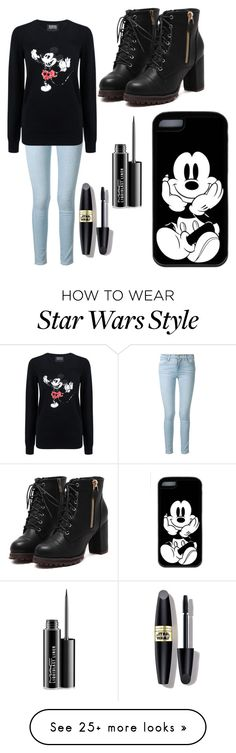 """""""Mickey Mouse :)"""" by skybluekittens-mm on Polyvore featuring Frame Denim, Markus Lupfer, MAC Cosmetics, Max Factor, women's clothing, women's fashion, women, female, woman and misses"""