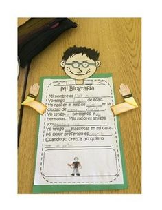 MI BIOGRAFIA A SPANISH AND SOCIAL STUDIES WRITING ACTIVITY - TeachersPayTeachers.com