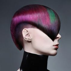 holi festival | Stunning color work by E.J. Baire! Beautiful geometric haircut by ...
