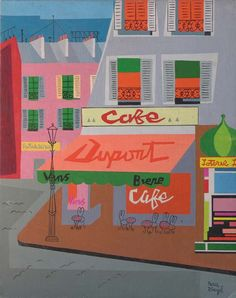 Dupont Cafe by David Segel 1950
