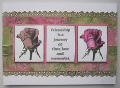 Friendschip is a Journey, A Handstamped Card made by Dianne ten Hove with the beautiful Stamps from Art Journey