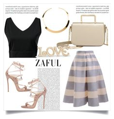 """""""ZAFUL"""" by esma-373 ❤ liked on Polyvore featuring Oris, Dsquared2, H&M and Lenox"""
