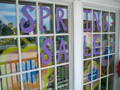 SPRING SALE, painted windows at girl this! May 2012