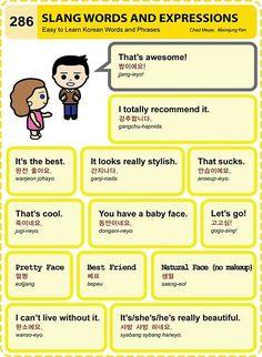 Korean Slang Words and Expressions  #KoreanLanguage #LearnKoreanFast #KoreanIsFun
