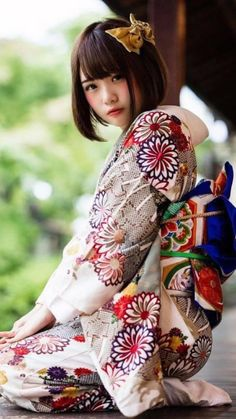 Kimono Japan, Japanese Kimono, Sexy Asian Girls, Beautiful Asian Girls, Cute Kawaii Girl, Asian Cosplay, Kimono Design, Cute Japanese Girl, Girls With Red Hair