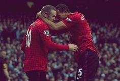 Wayne Rooney and Rio Ferdinand, Manchester United FC.