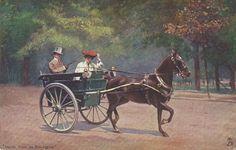 Driving the Bois de Boulogne  Vintage 1900s
