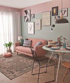 33 Vintage Room Ideas – Wohnzimmer Gemütlich - New Sites Home Living Room, Apartment Living, Living Room Designs, Living Room Decor, Bedroom Decor, Wall Decor, Home Interior, Interior Design, Apartment Interior