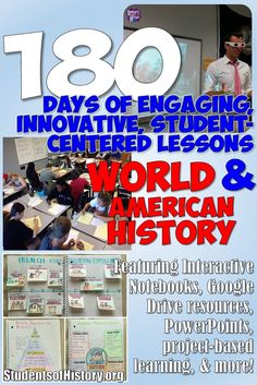 Never worry about planning a lesson again! Get immediate access to Students of History's complete World or US History curriculum and get engaging resources for the entire school year!