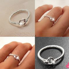 New cute 999 Sterling Silver Heart Ring: jewelhall.com