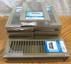 8 Brown 4 x 10 Metal Floor Registers House RV Mobile Home Steel Vent Diffuser