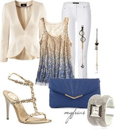 """""""Challenge #2: Blue Clutch"""" by mgfrias on Polyvore"""