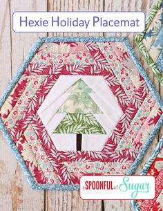 Hexie Holiday Placemat PDF Sewing Pattern