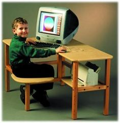 The Wild Zoo Grade School Computer desk is both sturdy in construction and stylish in design. Free Shipping http://www.sensoryedge.com/grsccodeshin.html