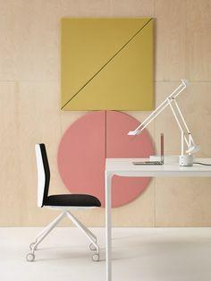Decorative acoustical panels PARENTESIT by Arper   design Lievore Altherr Molina @arperspa