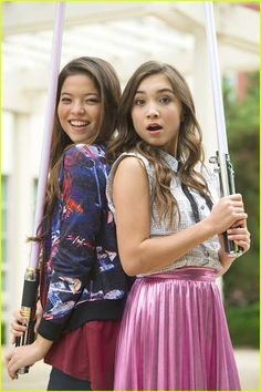 Piper Curda (Tara Peterson) with Rowan Blanchard. (She plays no one yet but comment character names for her and I'll use them!