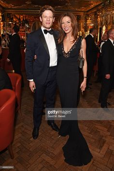 James Norton (L) and Heather Kerzner attend the Royal Marines Boxing Bout at Cafe Royal in celebration of their 150th Anniversary on November 24, 2015 in London, England.