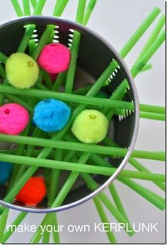 Kids will love this fun, silly version of kerplunk you can make yourself! Great kids activities for a a rainy day!