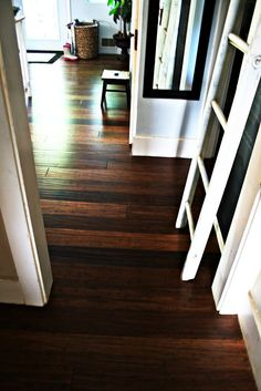 Hometalk   Just finished up installation of bamboo floors in the kitchen and dining room.