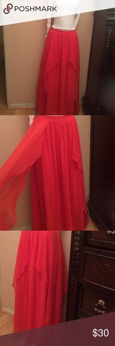 Long skirt Orange skirt. Beautiful style. Brand new with tags. Arden B Skirts Maxi