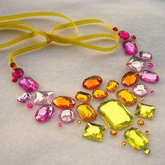 Summer Fire Floating Rhinestone Necklace by Sparkle Beast Designs http://www.etsy.com/shop/SparkleBeastDesign?ref=si_shop